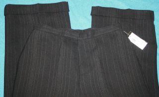 Grace Dane Lewis MSRP $104 Black Pinstripe Womens 12 Dress Pants 31 5