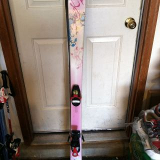 K2 Luv Bug Girls Skis Pink 136 cm Salomon Bindings