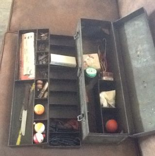 Vintage Fishing Tackle Box Lures Reels South Bend Heddon Weezle