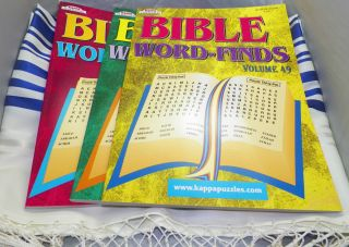 Bundle 3 Bible Word Finds Puzzle Books by Kappa Volumes 49 50 51