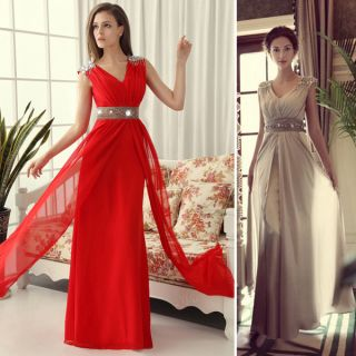 Evening Bridesmaid Cocktail Long Dress Grace Karin Beaded Gown