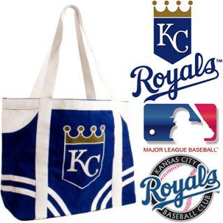 new▓ Kansas City Royals Canvas Tailgate Tote Genuine MLB Licensed