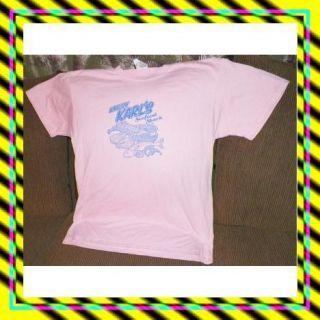 Kursty Karls Seafood Shack Mans Large T Shirt Pinkish Peach Colored