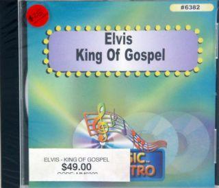 Elvis King of Gospel CD G Karaoke 15 Songs