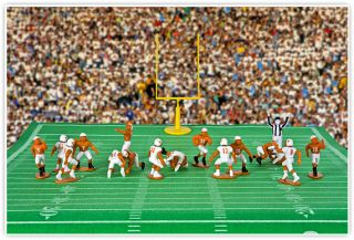 Kaskey Kids College Football Guys Texas Longhorns Action Figures New
