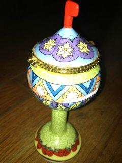 24 Karat Gold Trim Porcelain Postage Stamp Dispenser