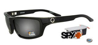 New Spy Kash Sunglasses Shiny Black Grey Lens 672002062129