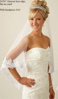 Royal Wedding Replica Kate Middleton Tiara and Alencon Lace Drop