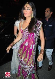 Indian Bollywood Star Kareena Kapoor Pink Designer Party Wear Replica