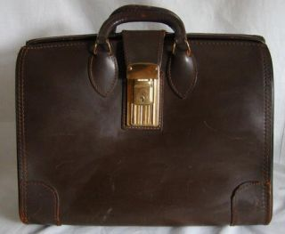 Vintage BROWN LEATHER BRIEFCASE Attache LAWYER Expandable MAD MEN Don