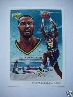 92 93 Upper Deck Karl Malone Utah Jazz Checklist 44