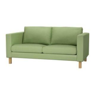 IKEA Karlstad Loveseat Slipcover Slip Cover 2 Seat Sofa Korndal Green