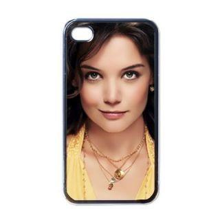 Katie Holmes Custom Apple iPhone 4 S Case Black Beauty American