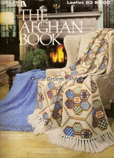 Crochet Knit Patterns Leaflet Book Afghans Afghan Covers