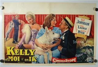 Van Johnson Piper Laurie Martha Hyer Dog Movie Kelly and Me Vintage