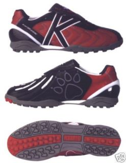 New Kelme Master Serena Turf Soccer Shoes Red Leather