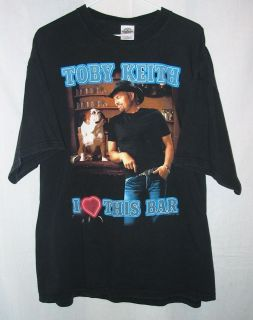 Toby Keith I Love This Bar ShockN YAll Tour T Shirt Black Cotton