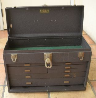 Vintage Kennedy Kits 7 Drawer Machinist Tool Box Chest