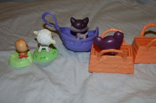 Littlest Pet Shop McDonalds Dog Koala Easter Chick Lamb w Baskets