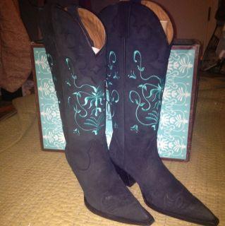 Lane Boots Womens Obsidien Strut Cowboy Boots Sz 7
