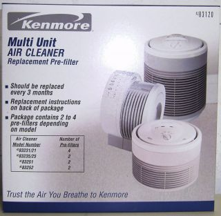 Kenmore Pre Filter for Air Cleaner Models 83231 83235