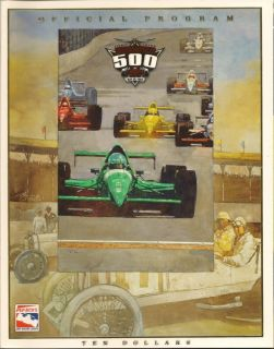 1999 Indianapolis 500 Program Kenny Brack A J Foyt