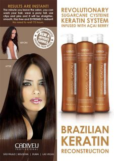 CACAU Brazilian Keratin Treatment Blow Dry Hair Straightening Kit