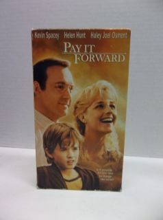 Pay It Forward VHS Drama Kevin Spacey Helent Hunt Haley Joel Osment