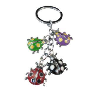Enamel Ladybug Charm Keychains W18810