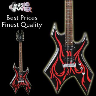 Rich Kerry King Tribal Fire Metal Master Warlock Electric Guitar Red