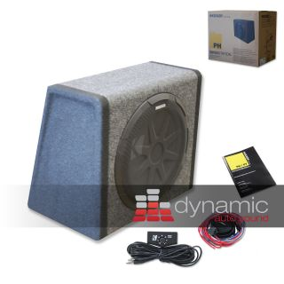 Kicker 11 PH12 12 Loaded Subwoofer Enclosure with 100 Watt Amplifier