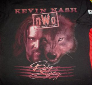 KEVIN NASH Big Sexy Wolf Pack NWO WWE Wrestling 1998 M Starter T SHIRT