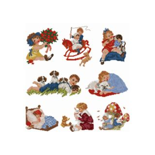 ABC Designs 8 Sweet Kids Machine Embroidery Designs in Cross Stitch 5