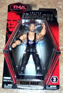 Kevin Nash Diesel WWE TNA Impact Signed Series 3 Figure Auto PSA DNA