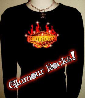 Kid Rock Crystal Rhinestone LS T Shirt Tee s M L XL 2XL