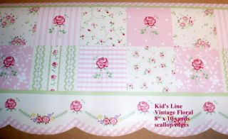 Kids Line Wall Border Vintage Floral 10 Yards New