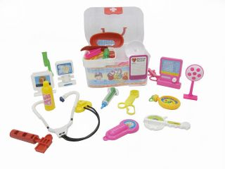 New Future Doctor Nurse Medical Pretend Play Kit for Kids w Utensils