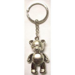Gettysburg Metal Moveable Teddy Bear Key Chain New