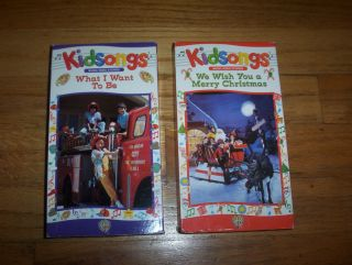 KIDSONGS VHS VIDEOS WHAT I WANT TO BE & WE WISH YOU A MERRY CHRISTMAS