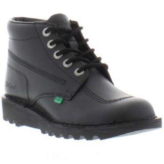 Kickers Shoes Genuine Kick Hi Black Classic Mens Boots Sizes UK 7 12