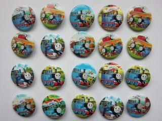 30mm Thomas Train Button Pin Badge Kids Party Bag Fillers Toys