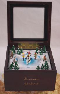 MR. CHRISTMAS SNOWMAN JAMBOREE MUSIC BOX PLAYS WE WISH YOU A MERRY