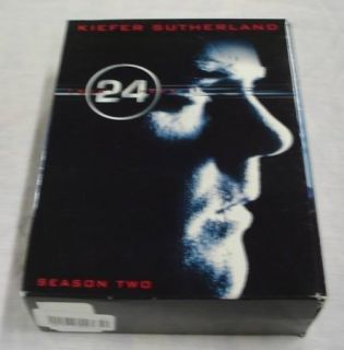 24 Twenty Four Season 2 DVD Set Kiefer Sutherland 7 DVDS