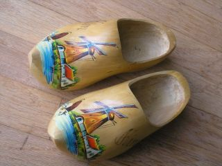 Authentic Dutch Wooden Clogs Clompen Shoes Holland Windmill Kim