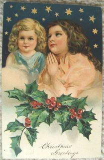 Vintage Embossed Christmas Post Card Made in Germany