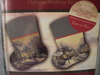 Thomas Kinkade Christmas Stocking Kit 2 Victorian Villa