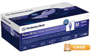 Kimberly Clark Purple Nitrile Medical Exam Gloves