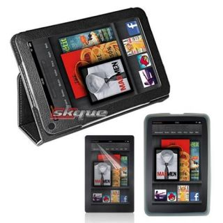 Case Cover Bag Clear Skin Protector Film for  Kindle Fire