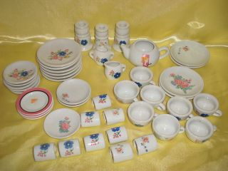 Vintage Mixed Lot Childs Kids Doll Play Dishes Tea Set Strombecker