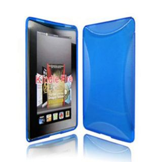 TPU Silicon Skin Case Cover for  Kindle Fire 7 Blue